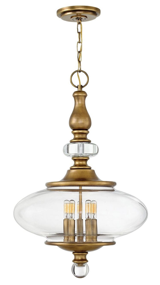 Decolight Wesley 5 light Ceiling Pendant Aged Brass - Decolight Ltd