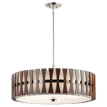 Decolight Cirus 5lt Pendant Auburn Stained Wood klcirus5p