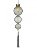 Heathfield Medina 3 Ball Opal Jade Ceiling Pendant Light