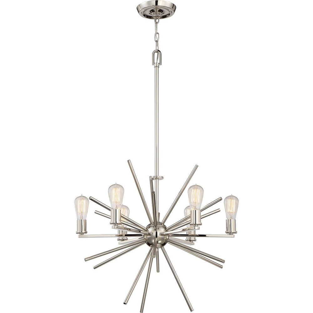 Decolight Cameron 6 light Chandelier Silver
