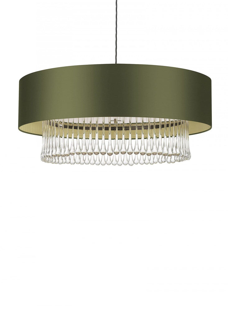 "Heathfield Roehampton 32"" Crystal Pendant Ceiling Light"