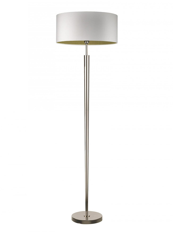 Heathfield Torchere Nickel Floor Lamp