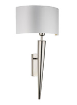Heathfield Torchere Wall Light Polished Nickel - Decolight Ltd