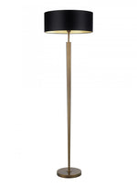Heathfield Torchere Antique Brass Floor Lamp