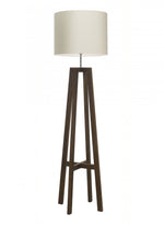 Heathfield Tripod Antique Oak Floor Lamp