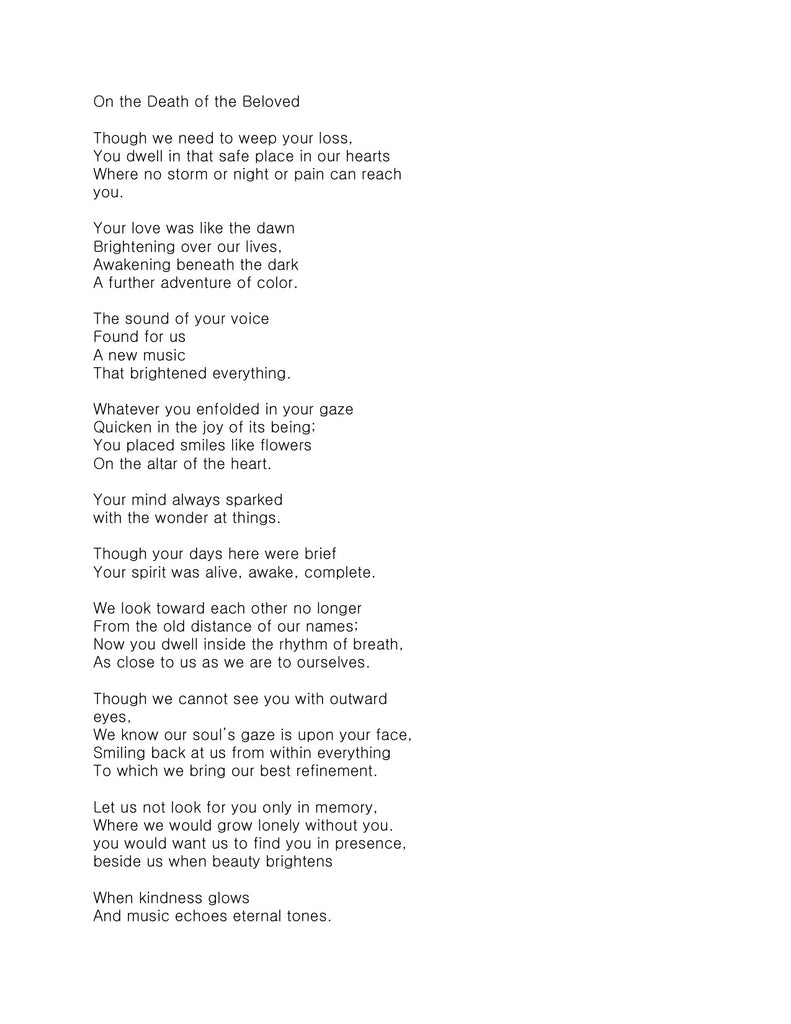 poems about dealing with death
