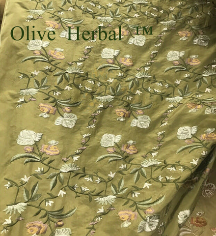 7. The VERSAILLES ™ 100%  Silk Dupioni Embroidered shroud