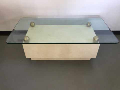 Custom Marble Table With Glass Top