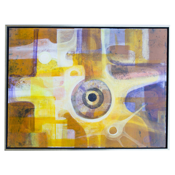 Yellow, Orange Abstract Art