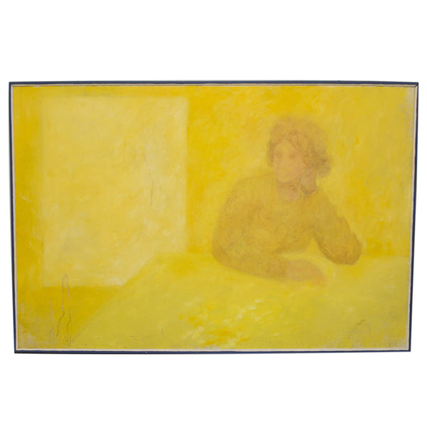 Yellow Lady - Vintage Art
