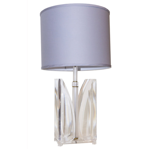Lucite Four-Gem Lamp