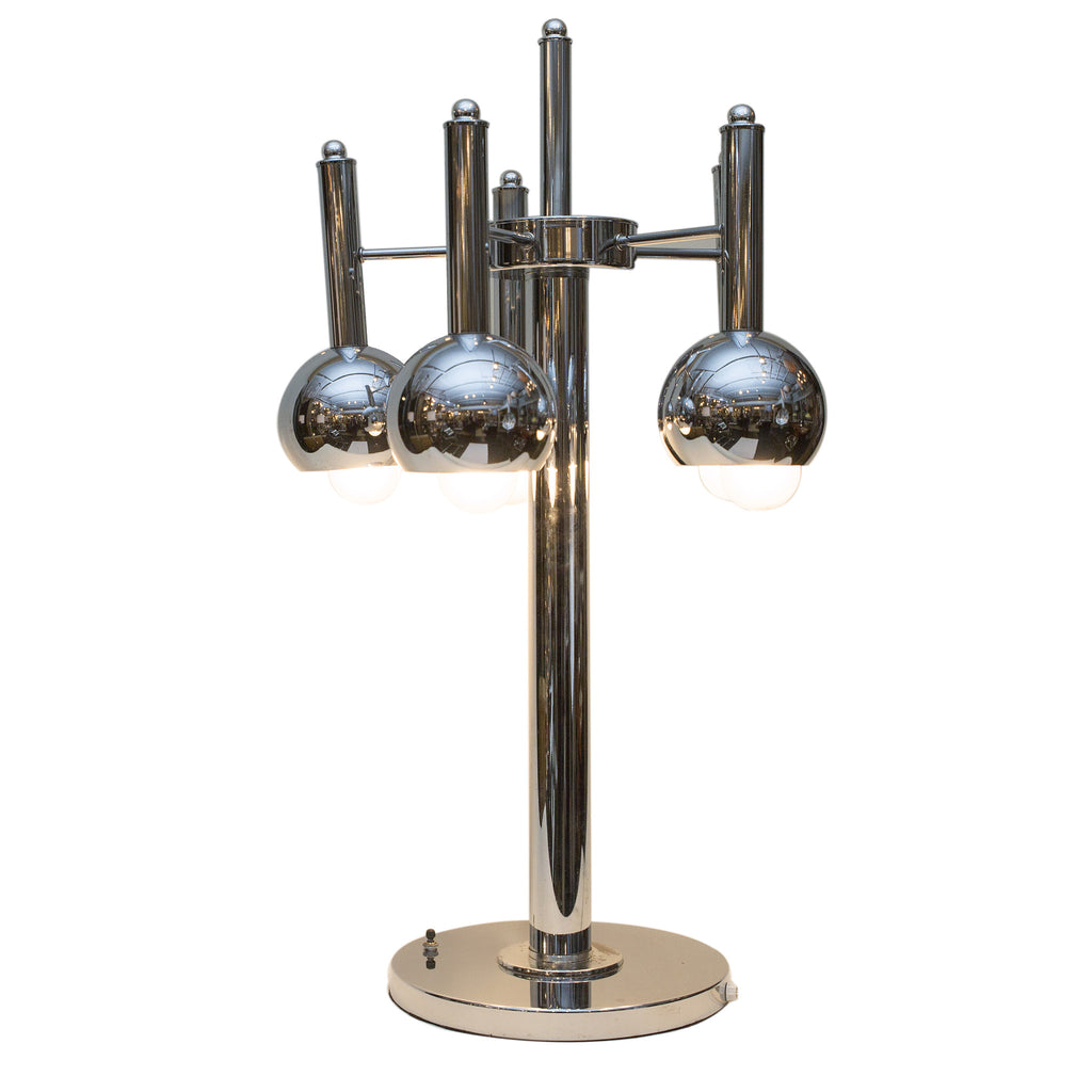 5-Bulb Chrome Table Lamp