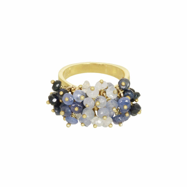 Cluster Ring - Sapphire
