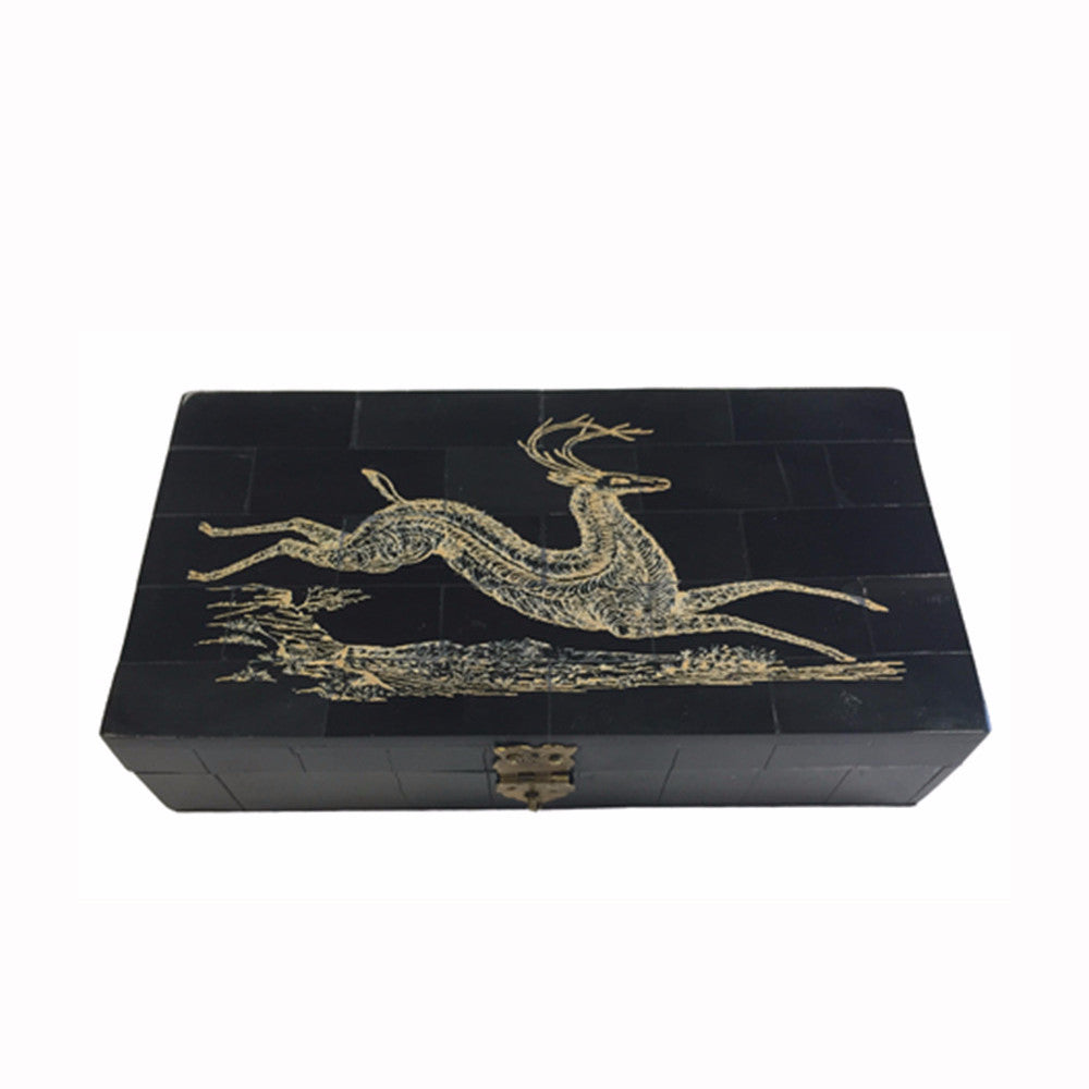 Deer Scrimshaw Box
