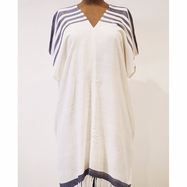 Bamboo and Navy Caftan, S/M