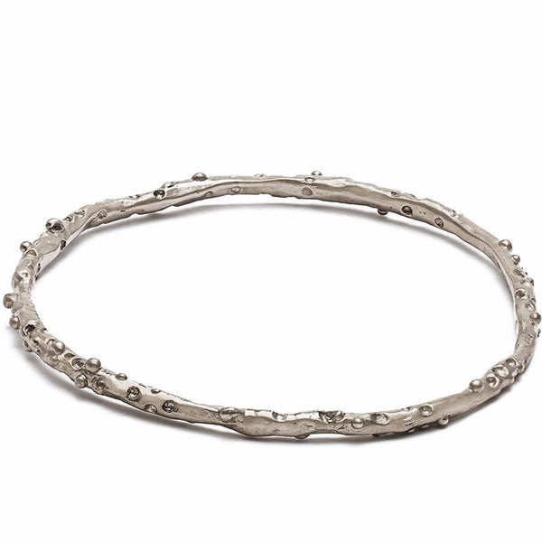 Sterling Caviar Bangle