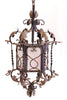 french nouveau iron chandelier