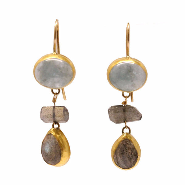 labradorite and aquamarine earrings elizabeth stuart design