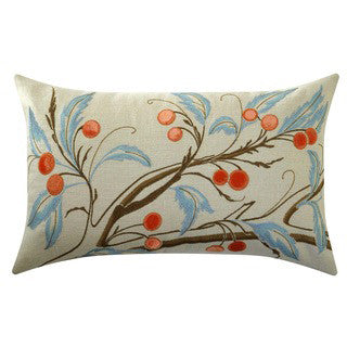 Ombre Cherry Branch Pillow