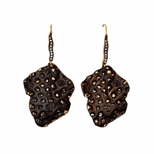 Black Star Coral Earrings