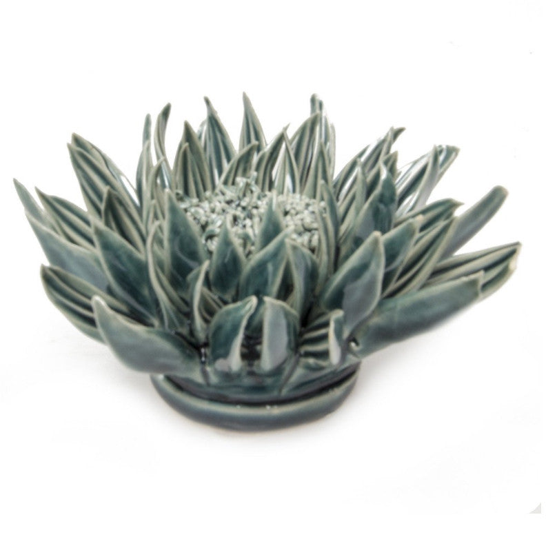 Ceramic Flower - Teal