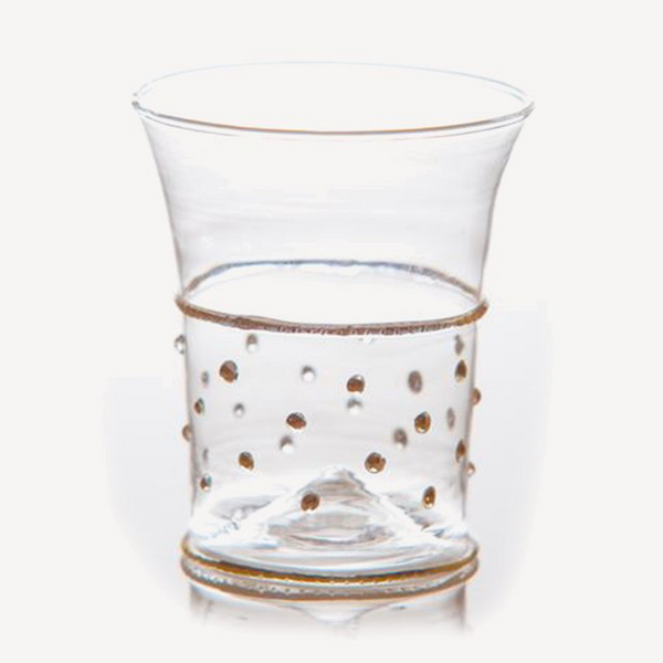 Classic Dots Tumbler with Gold