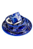 Cobalt Hibiscus Serving Bowl
