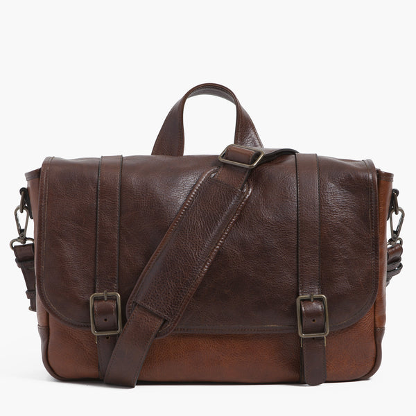 Carlton Courier Bag - Titan Milled Brown