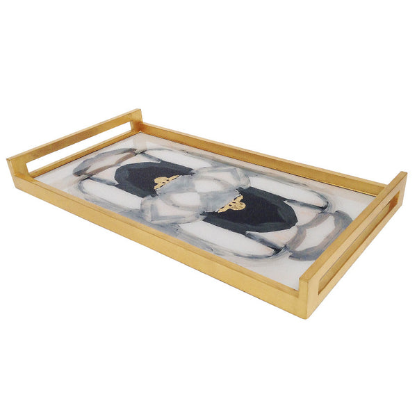 Waylande Gregory Abstract Rectangle Tray