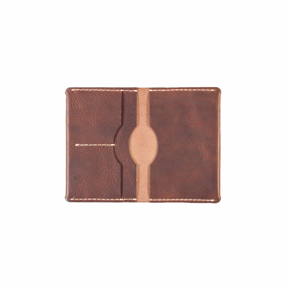 handmade leather passport holder