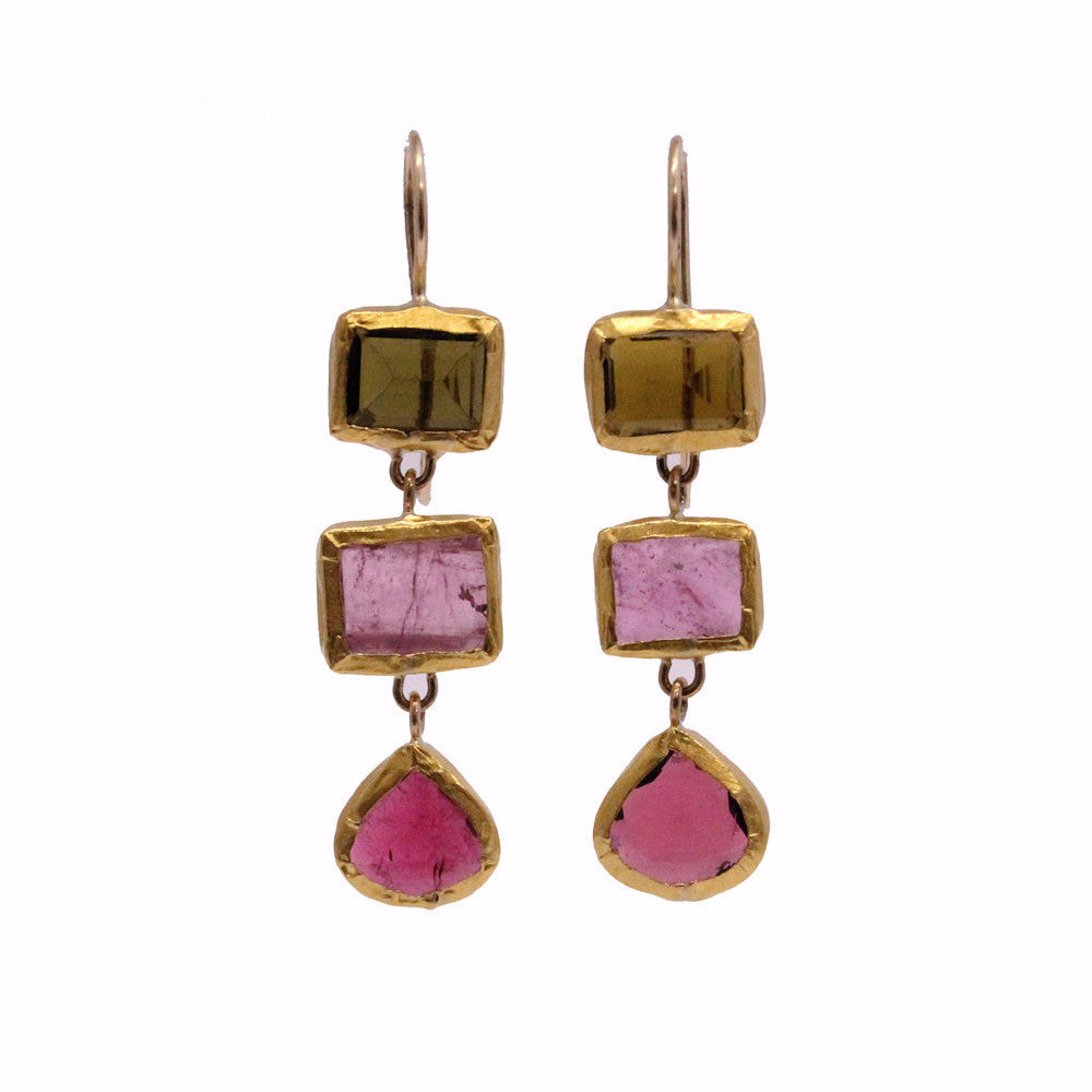 tourmaline and gold earrings elizabeth stuart design