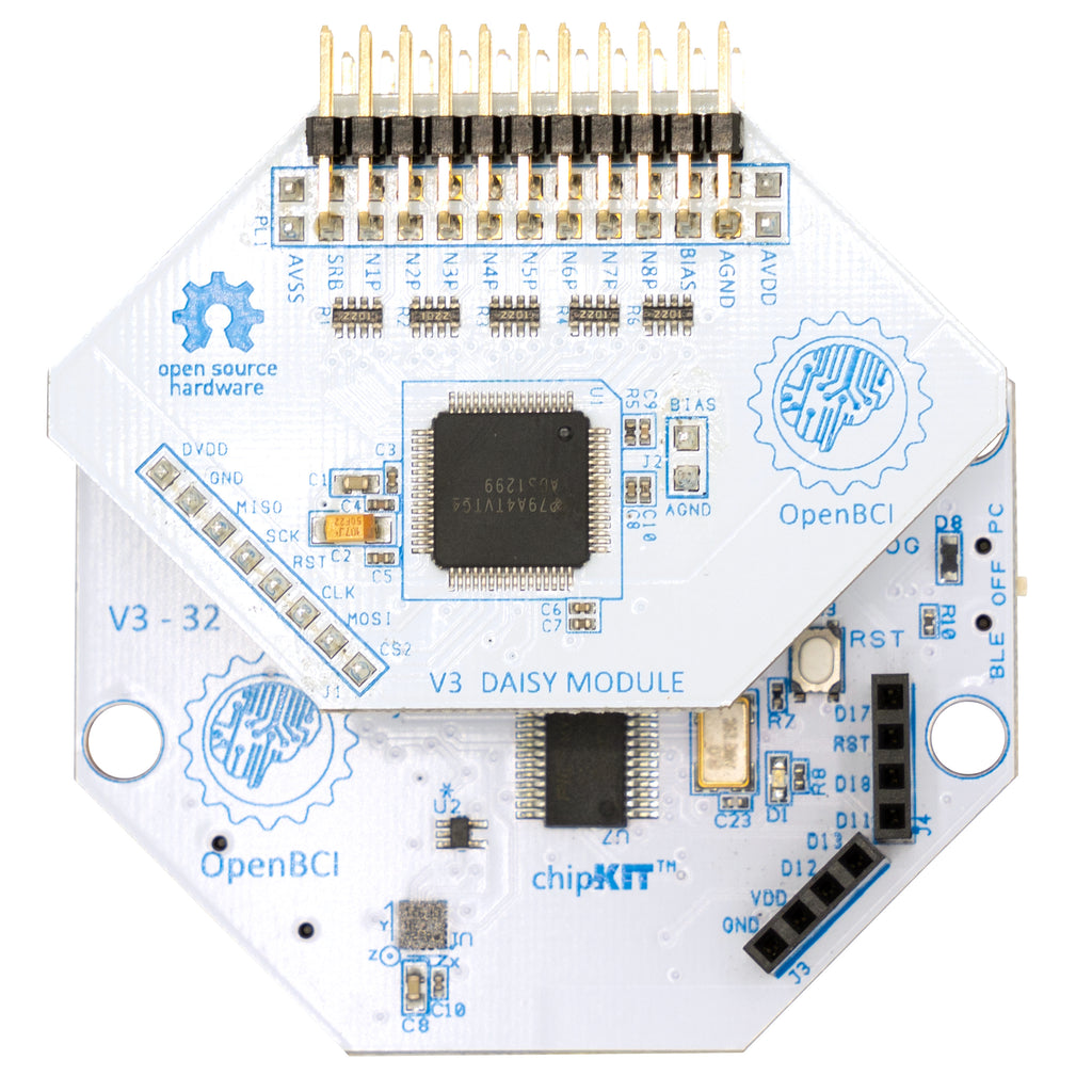 Cyton + Daisy Biosensing Boards (16-Channels)