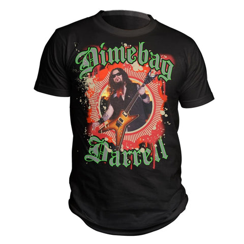 Dimebag Darrell Black Guitar Burst T-Shirt