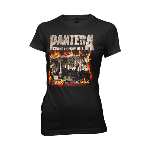 Cowboys From Hell Fire Album Cover Women's T-Shirt