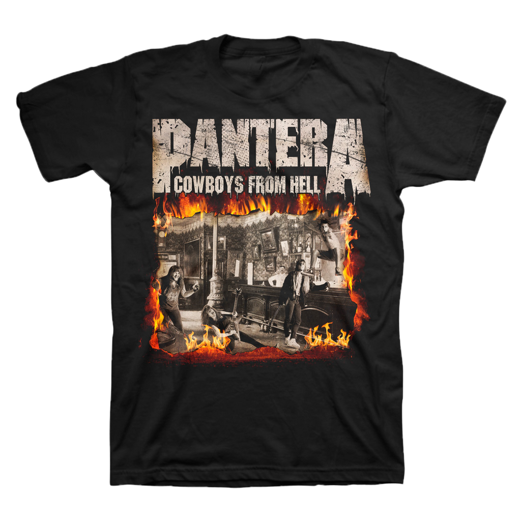 Cowboys From Hell Fire Album Cover T-Shirt