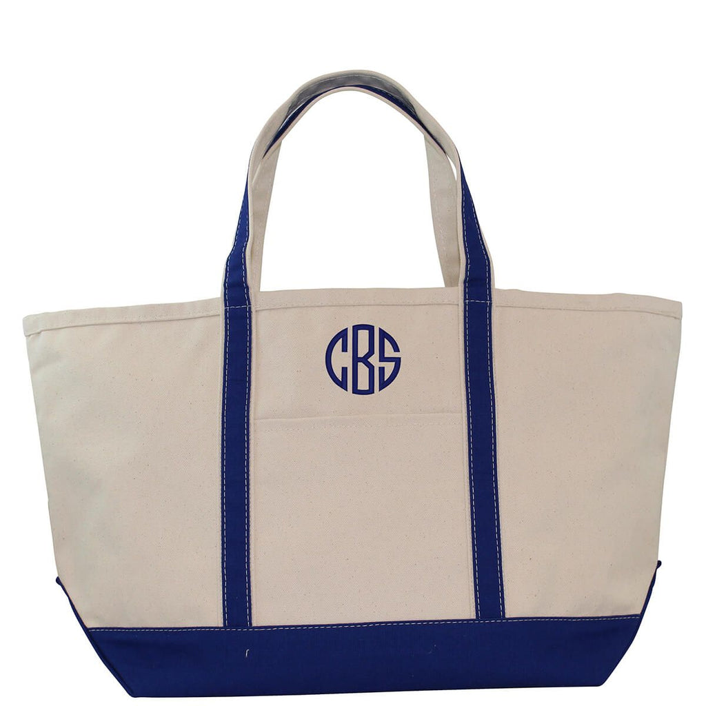 Monogrammed Large Canvas Totes