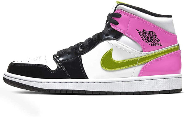 "Air Jordan 1 Mid White ""Black Cyber Pink"""