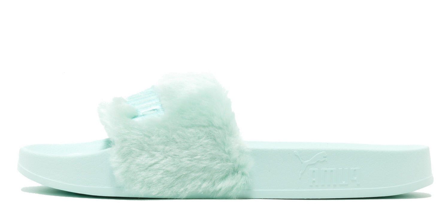 Rihanna x Puma Fenty Fur Slides BAY BLUE