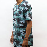 Blue Camo Raw Edge Tee