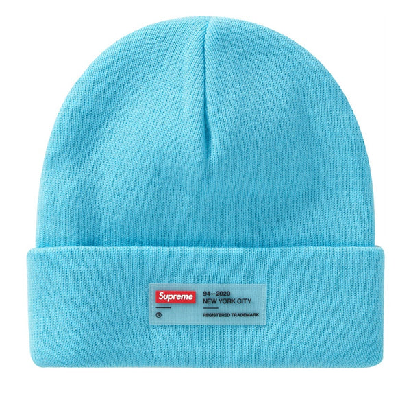 Supreme Clear Label Beanie Cyan