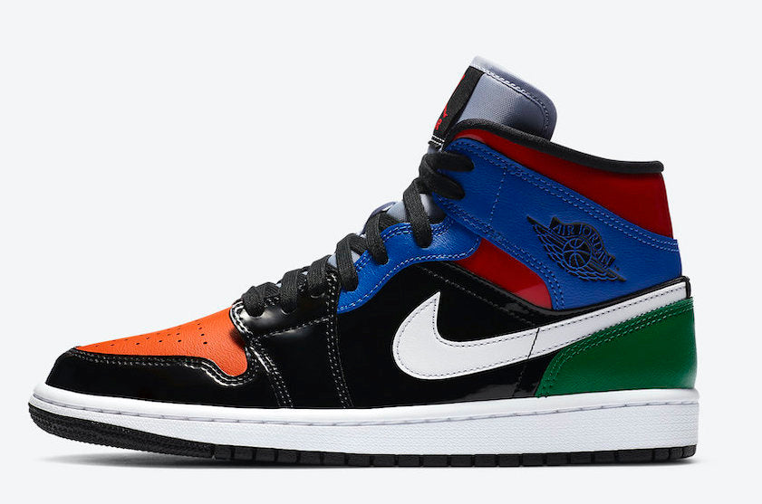 "WMNS Air Jordan 1 Mid SE ""Black White Multicolor"""