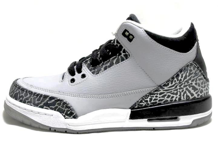 sneaker-plugz- jordans for sell- jordans for sale - retro jordans- air jordan - jordan collection -gs Jordan 3 Retro Wolf Grey  GS- jordan -Jordan 3 Retro Wolf Grey -gradeschool-gs-main