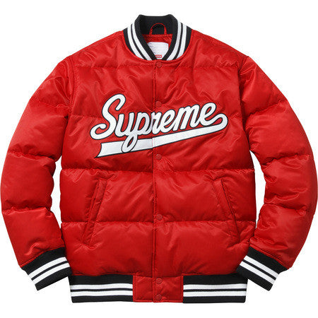 Supreme Script Varsity Puffy Jacket