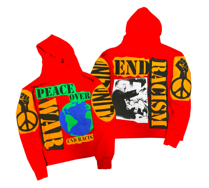 """WAR OVER PEACE"" BY KIY HOODIE ""RED"""