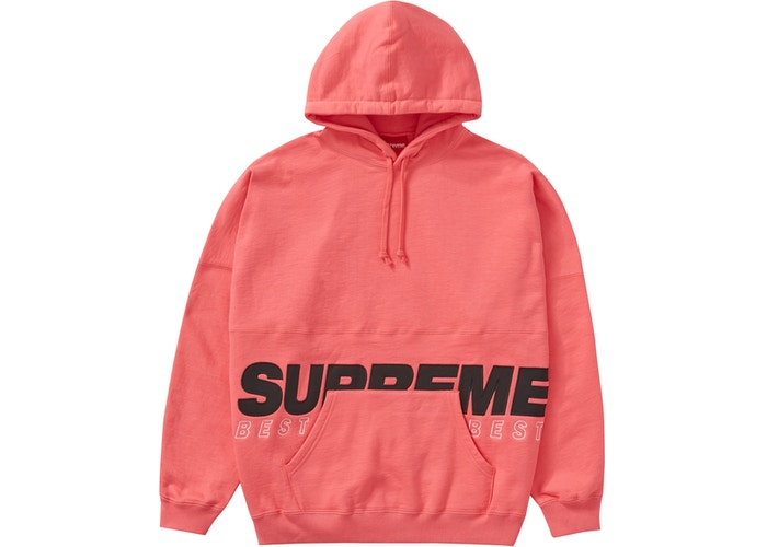 Supreme Best Of The Best Hooded Sweatshirt Bright Coral