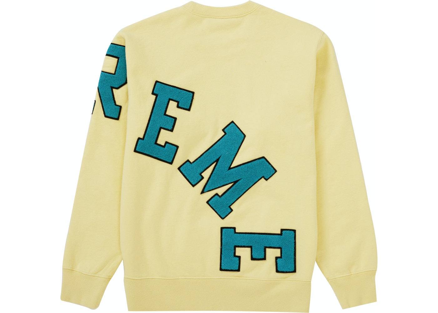 Supreme Big Arc Crewneck Light Yellow