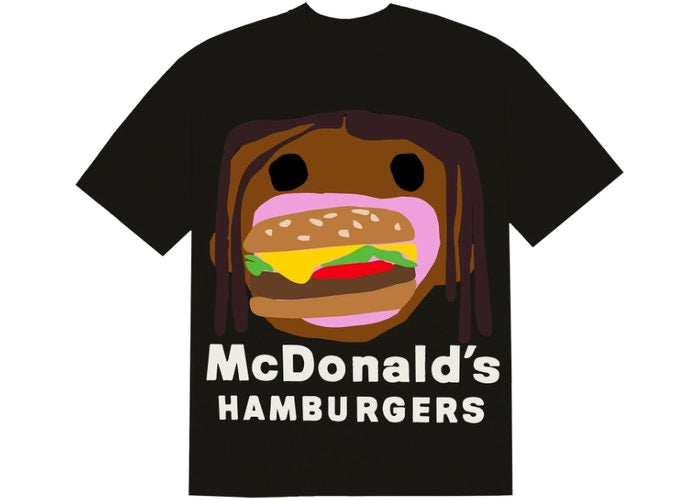 Travis Scott x CPFM 4 CJ Burger Mouth T-Shirt Black