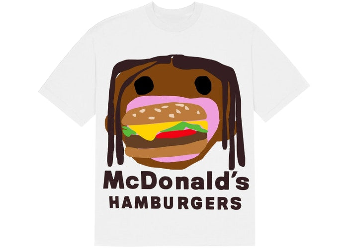 Travis Scott x CPFM 4 CJ Burger Mouth T-Shirt White
