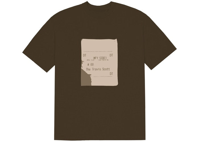 Travis Scott x CPFM 4 CJ Grill Slip T-Shirt Brown