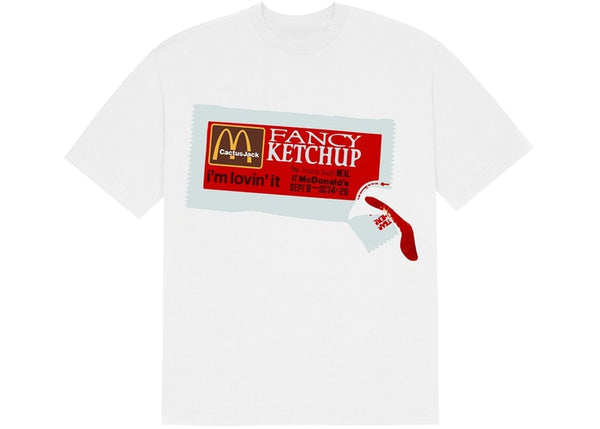 Travis Scott x McDonald's CPFM 4 CJ Ketchup T-Shirt White